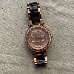 MICHAEL KORS Tortoise Rose Gold Watch